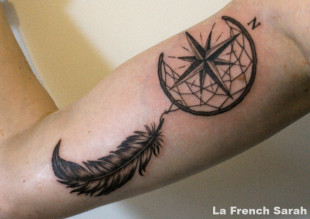 Dream catcher et plume
