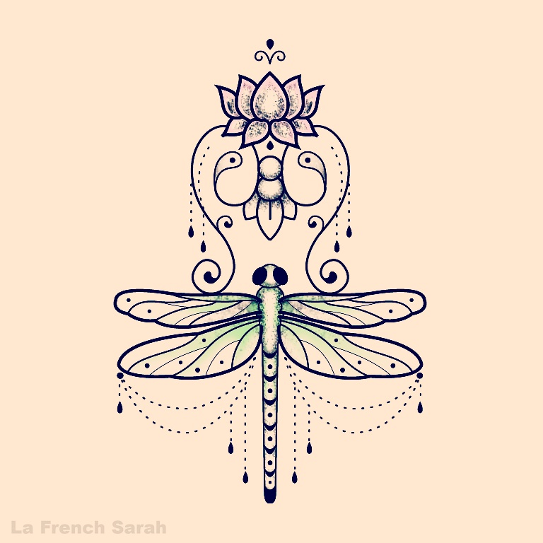 libellule dessin tatouage | tuer auf